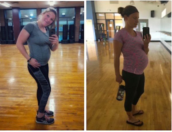 woman working out while pregnant
