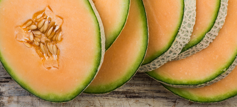 healthy snack idea - cantaloupe