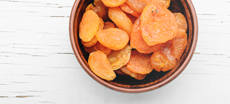 healthy snack idea - dried apricots