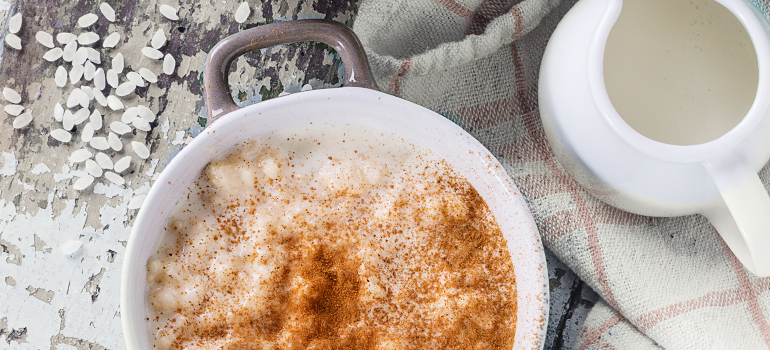 healthy snack idea - healthy rice pudding