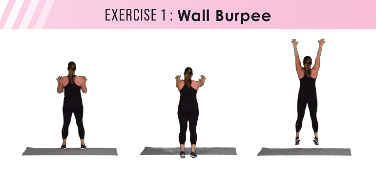 HIIT workout plans - wall burpee