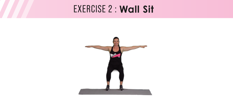 HIIT workout plan - wall sit