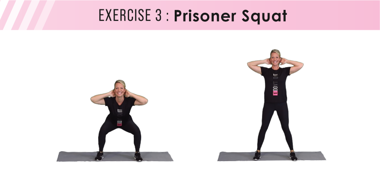 HIIT workout plan - prisoner squat