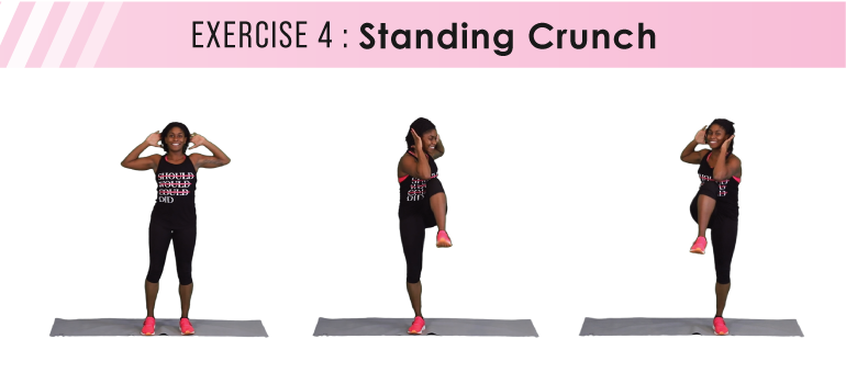 HIIT workout plan - standing crunch
