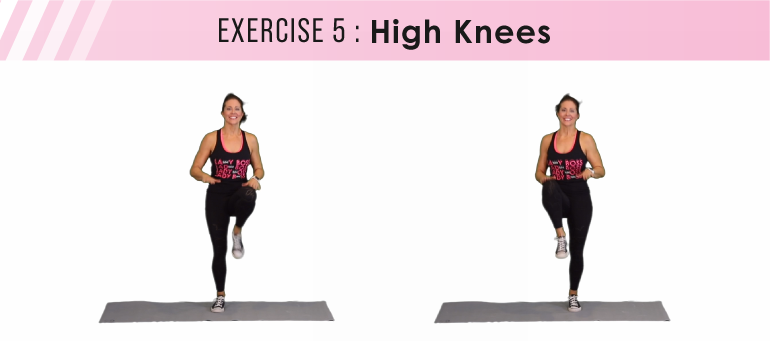 HIIT workout plan - high knees