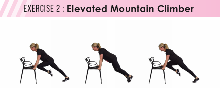 HIIT workout plan - elevated mountain climbers