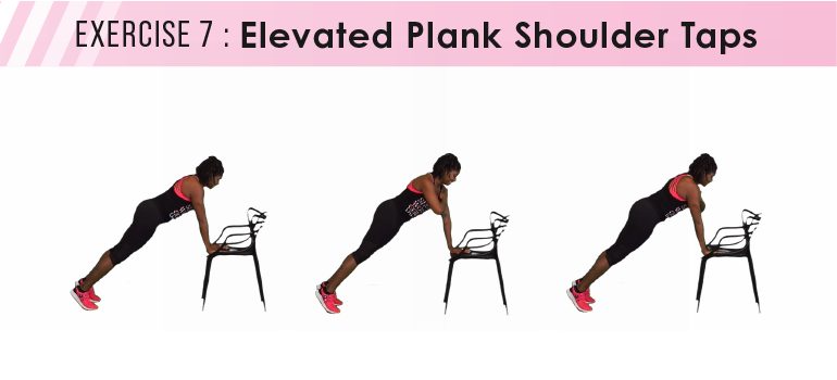 HIIT workout plan - elevated plank shoulder taps