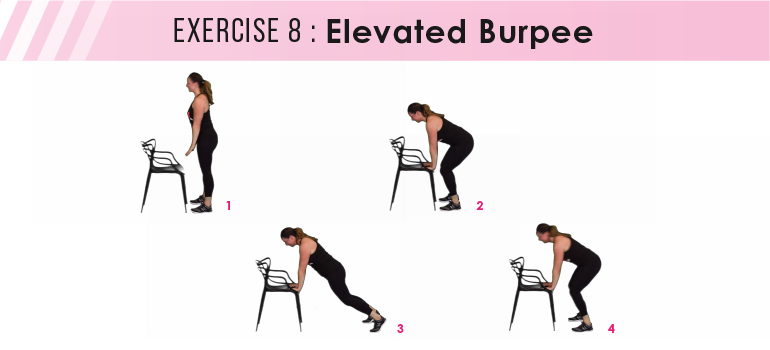 HIIT workout plan - elevated burpees