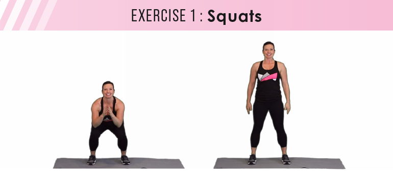 HIIT workout plan - squats