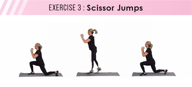 HIIT workout plan - scissor jumps