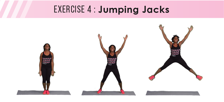 HIIT workout plan - jumping jacks
