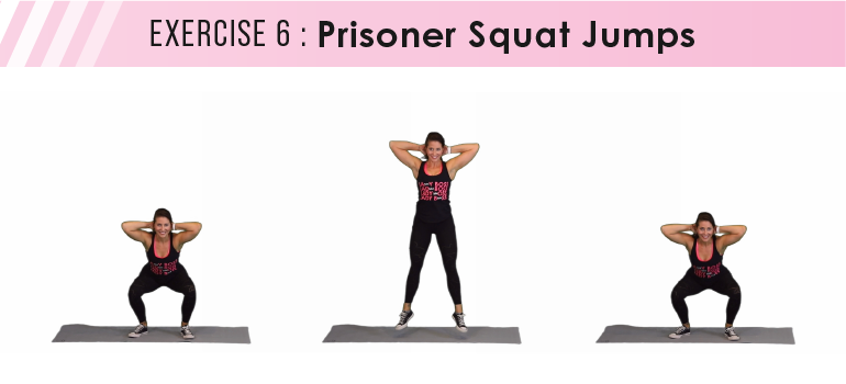 HIIT workout plan - prisoner squats