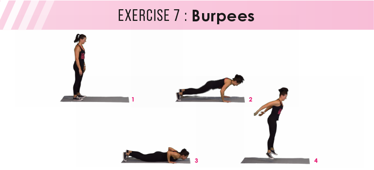 HIIT workout plan - burpees