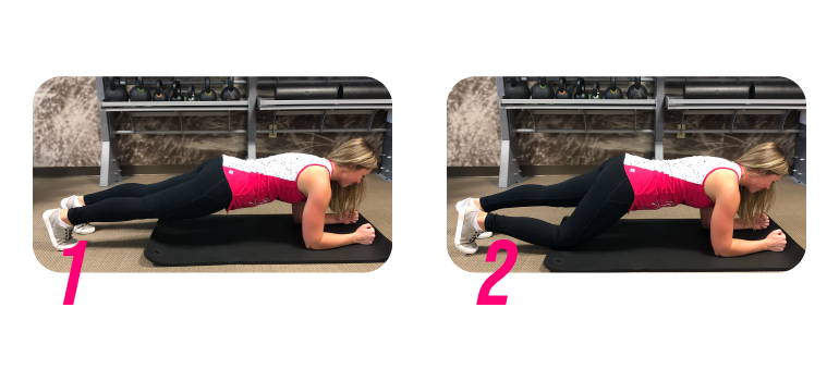 Plank variation: the child
