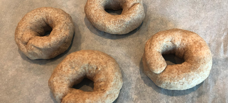 Raw dough Air Fryer Bagels