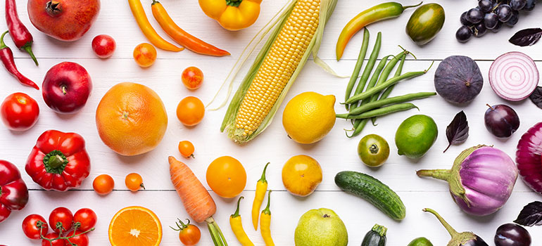 Img of colorful foods