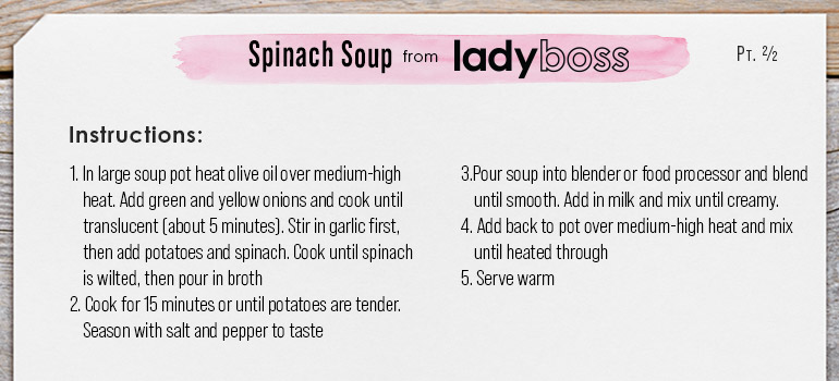 Spinach Soup Instructions