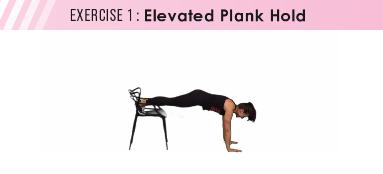 HIIT workout plan - elevated plank