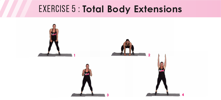HIIT workout plan - total body extensions