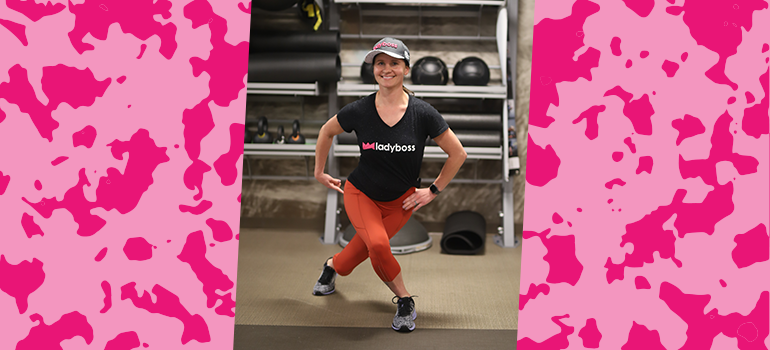 Butt workout: Curtsey lunge