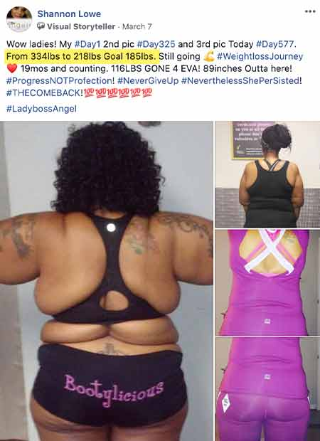 testimonial ladyboss health weight loss virtual trainer app